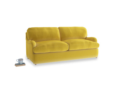 Medium Jonesy Sofa Bed in Bumblebee clever velvet
