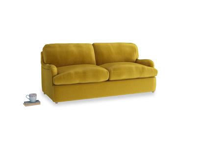 Medium Jonesy Sofa Bed in Burnt yellow vintage velvet
