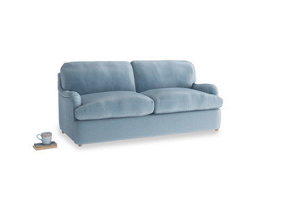 Medium Jonesy Sofa Bed in Chalky blue vintage velvet