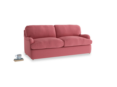 Medium Jonesy Sofa Bed in Raspberry brushed cotton