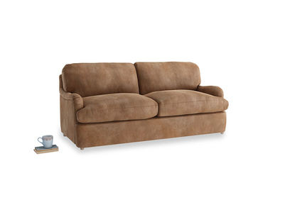 Medium Jonesy Sofa Bed in Walnut beaten leather