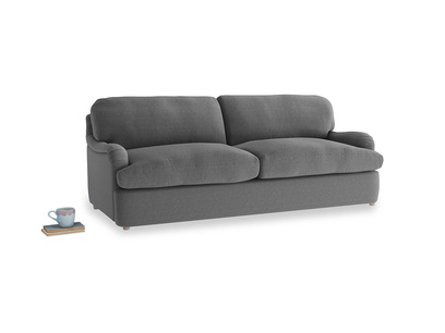 Large Jonesy Sofa Bed in Ash washed cotton linen