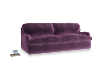 Large Jonesy Sofa Bed in Grape clever velvet
