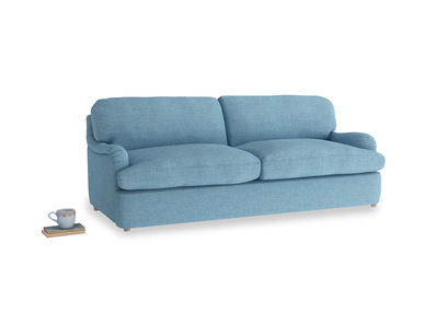 Large Jonesy Sofa Bed in Moroccan blue clever woolly fabric