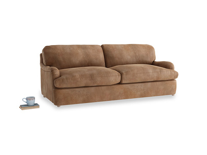 Large Jonesy Sofa Bed in Walnut beaten leather