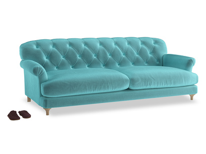 Extra large Truffle Sofa in Belize clever velvet