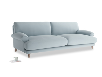 Extra large Slowcoach Sofa in Scandi blue clever cotton