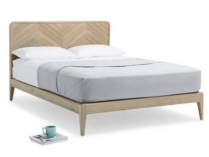 Flapper wooden oak parquet bed