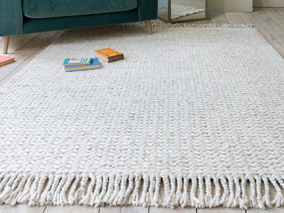 Chunkster knitted wool floor rug