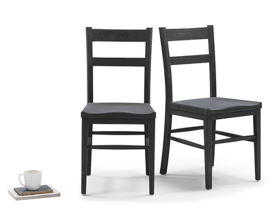Idler wooden kitchen chair in Charcoal