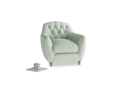 Butterbump Armchair in Soft Green Clever Softie