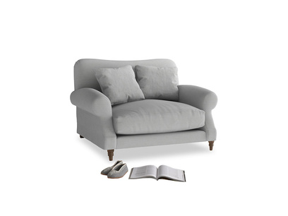 Crumpet Love seat in Pewter Clever Softie