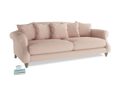 Large Sloucher Sofa in Pink clay Clever Softie