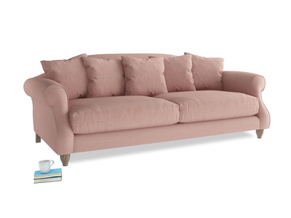 Large Sloucher Sofa in Tuscan Pink Clever Softie