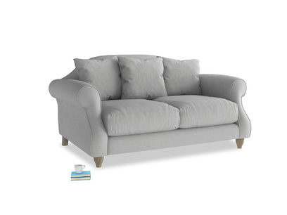 Small Sloucher Sofa in Pewter Clever Softie