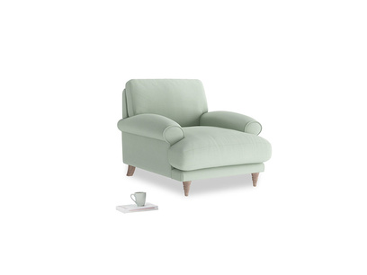 Slowcoach Armchair in Soft Green Clever Softie