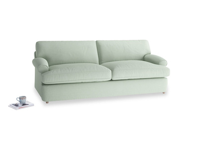 Large Slowcoach Sofa Bed in Soft Green Clever Softie