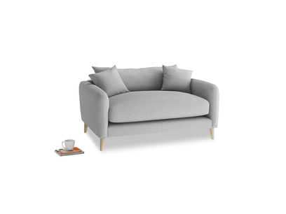 Squishmeister Love Seat in Pewter Clever Softie