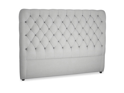 Superking Tall Billow Headboard in Pewter Clever Softie