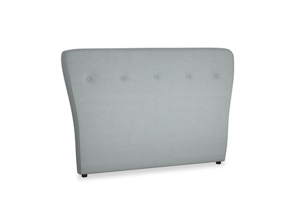 Double Smoke Headboard in Armadillo Clever Softie