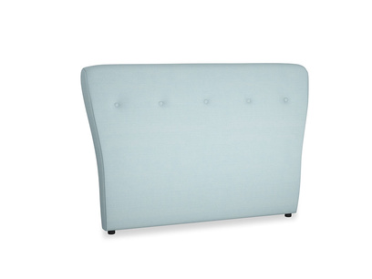 Double Smoke Headboard in Powder Blue Clever Softie