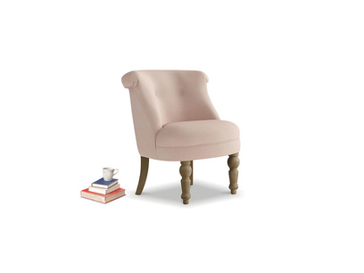 Bovary Armchair in Pink clay Clever Softie