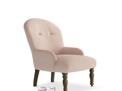 Rosina Occasional Chair in Pink Clay Clever Softie