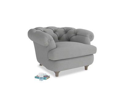 Swaggamuffin Armchair in Pewter Clever Softie