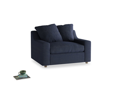 Cloud love seat sofa bed in Seriously Blue Clever Softie