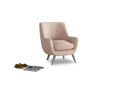 Berlin Armchair in Pink clay Clever Softie
