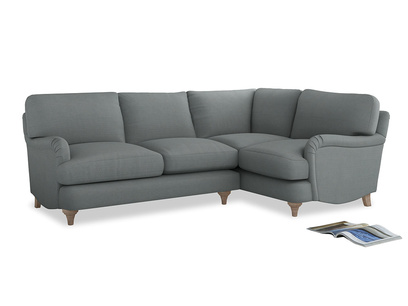 Large Right Hand Jonesy Corner Sofa in Armadillo Clever Softie