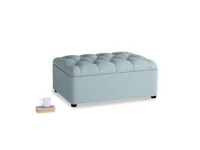 Single Bed In A Button in Powder Blue Clever Softie