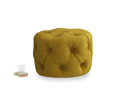Gumdrop in Burnt yellow vintage velvet