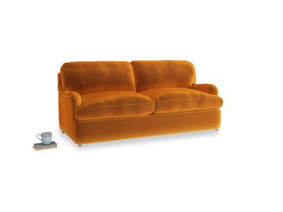 Medium Jonesy Sofa Bed in Spiced Orange clever velvet