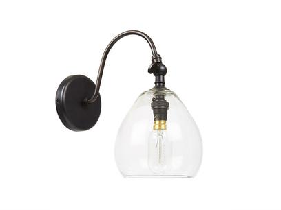 Raindrop handblown glass wall light