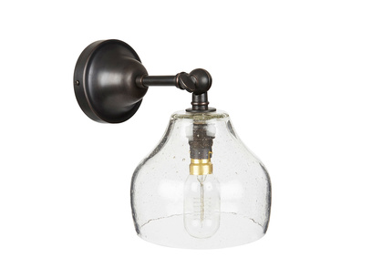 Cowbell glass wall light
