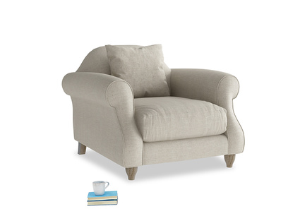 British made Sloucher contemporary armchair