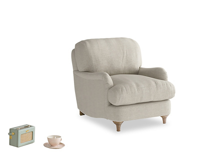 Deep British made luxury comfy Jonesy armchair