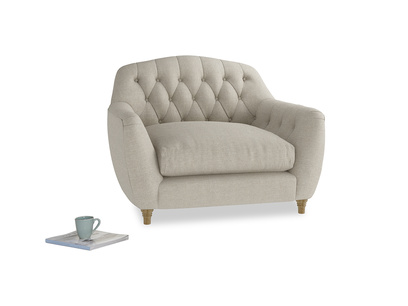 Butterbump chesterfield love seat and button back chair
