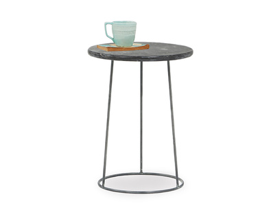 Hot Shot round stone side table