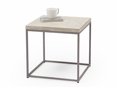Little Parker side table in parquet wood