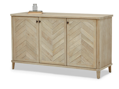 Grand Fandangle wooden sideboard in parquet style