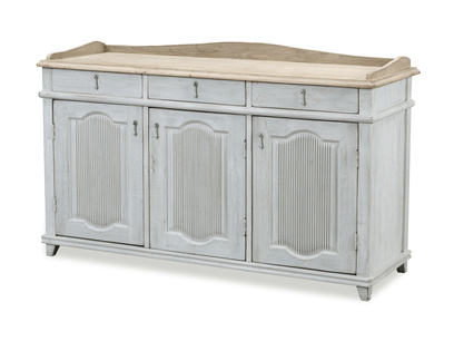 Grand Teardrop antique style grey wooden vintage sideboard