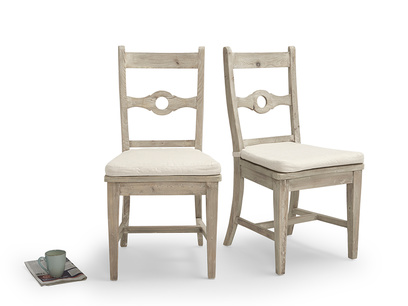 Stylish wooden Chinwag Beached kitchen chairs with beautiful beached timer finish