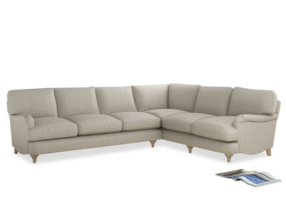 Xl Right Hand Jonesy Corner Sofa in Thatch house fabric