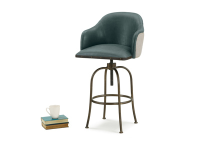 milk upholstered swivel counter breakfast bar stool