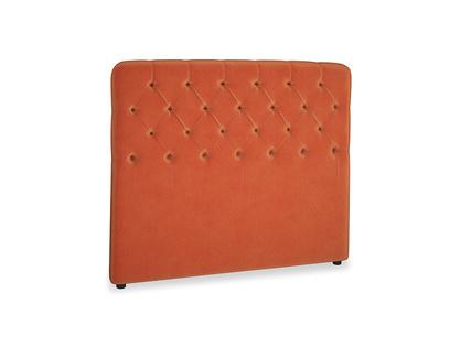 Double Billow Headboard in Old Orange Clever Deep Velvet