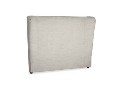 Double Hugger Headboard in Grey Daybreak Clever Laundered Linen