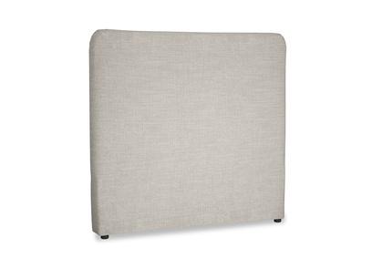 Double Ruffle Headboard in Grey Daybreak Clever Laundered Linen