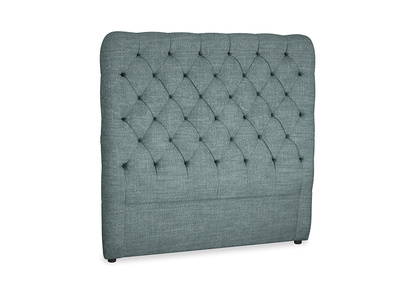 Double Tall Billow Headboard in Anchor Grey Clever Laundered Linen